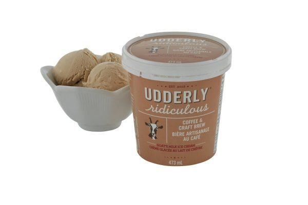 Coffee & Craft Brew (473mL) Goat Milk Ice Cream At Udderly Ridiculous Farm Life in Bright, ON